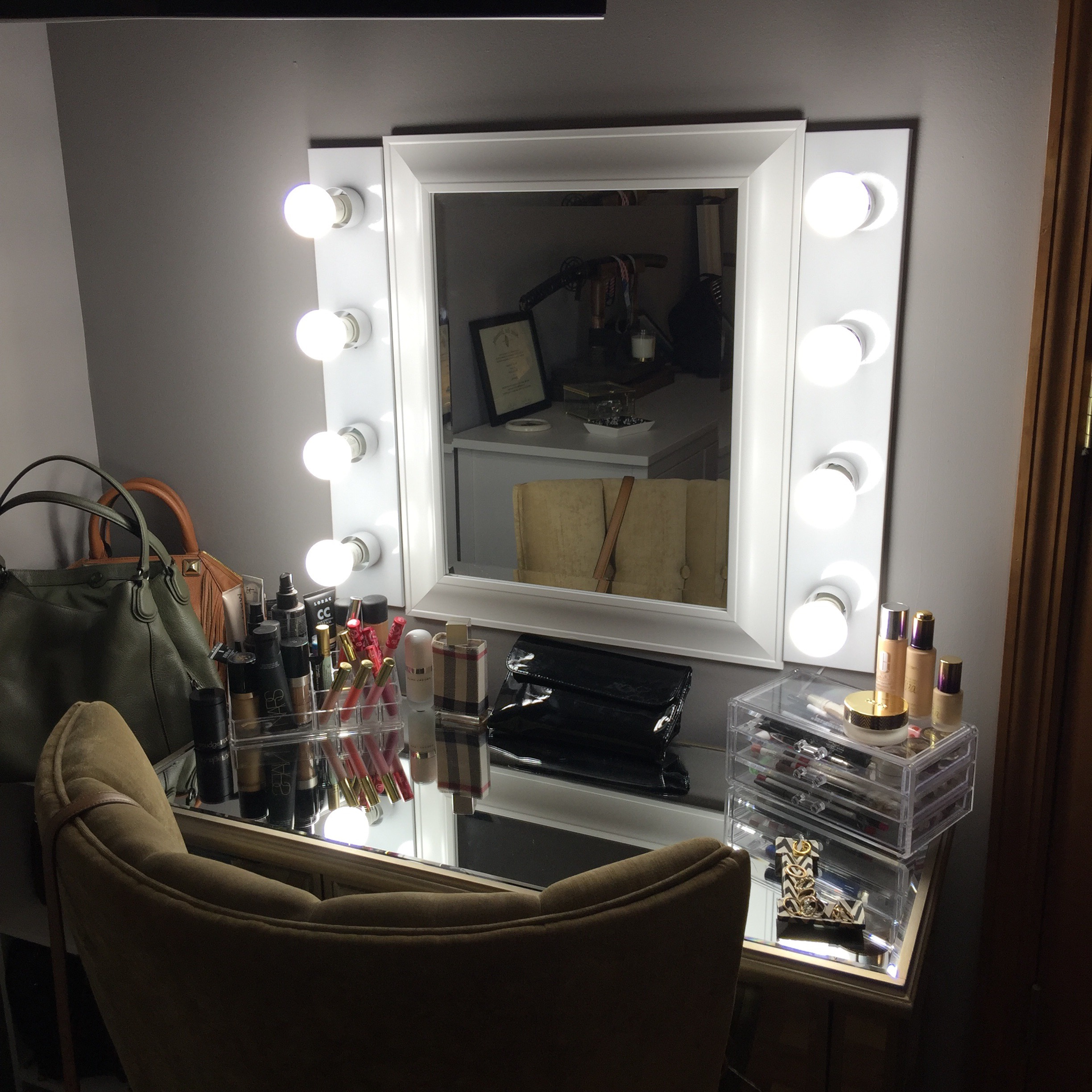 Home goods vanity table image collections coffee table design ideas happy st vanity for the glamorous love of fashion my mirrored vanity table five drawer chest geotapseo Images